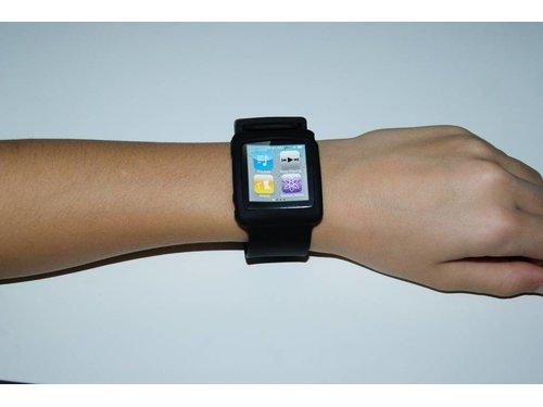 Силиконовый чехол ремешок для iPod Nano 6g Черный