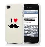 Чехол накладка I Love усы для iPhone 4/4s