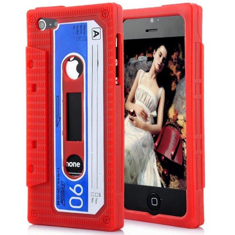 Чехол кассета 90-х для iPhone 5 Красный