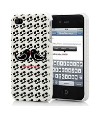 Крышка Усы и Очки для iPhone 4/4s