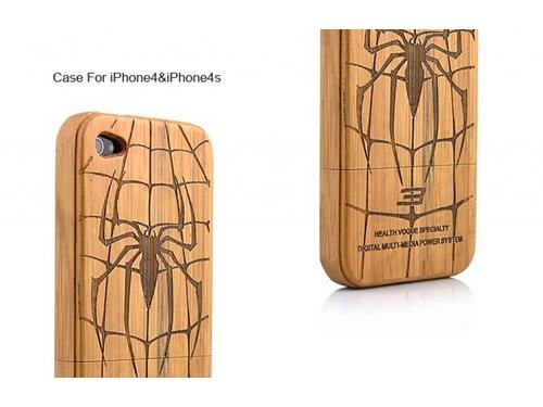 Деревянная задняя крышка Spider Man для iPhone 4/4s
