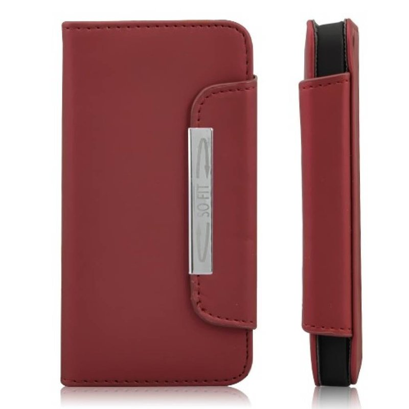Кожаный чехол с ремешком iPhone 5 Красный