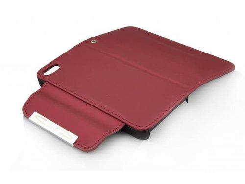 Стильный кожаный кошелек чехол для iPhone 5