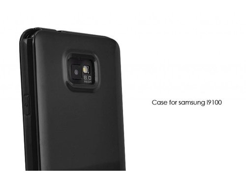 Чехол накладка для Samsung Galaxy S2 i9100 Черная