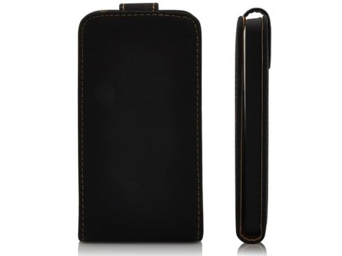 Кожаный черный чехол книжка для iPhone 5