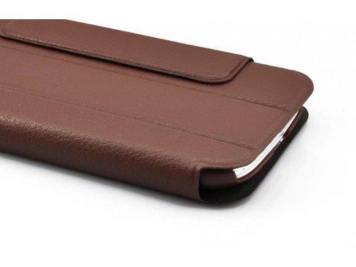 Кожаный чехол с подставкой для Samsung Galaxy S3 i9300 Коричневый