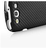 Карбоновый чехол книжка для Samsung Galaxy S3 i9300
