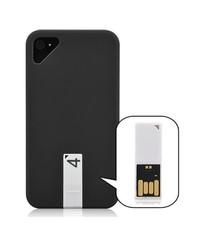 Матовый чехол кейс для iPhone 4/4s с Flash Флеш картой 4 Gb