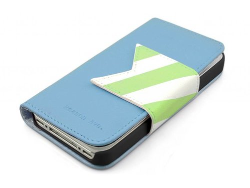 Кошелек чехол Happymori для iPhone 4,4S Голубой