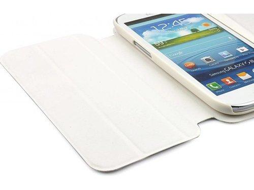 Кожаный чехол с подставкой для Samsung Galaxy S3 i9300 Белый