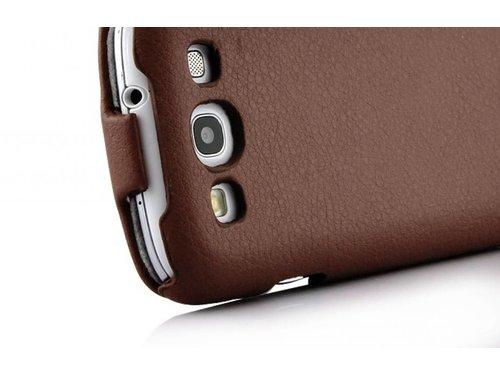Чехол книжка c откидной крышкой для Galaxy S 3 i9300 Кофейный