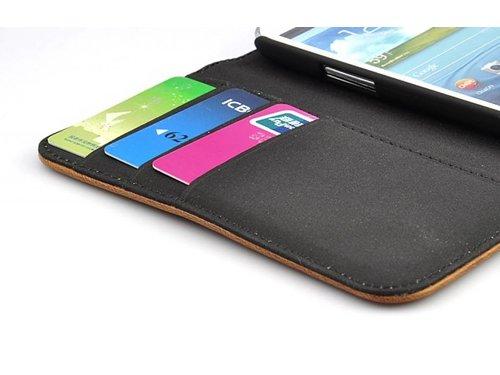 Ретро кожаный чехол кошелек для Samsung Galaxy S3 i9300 Коричневый