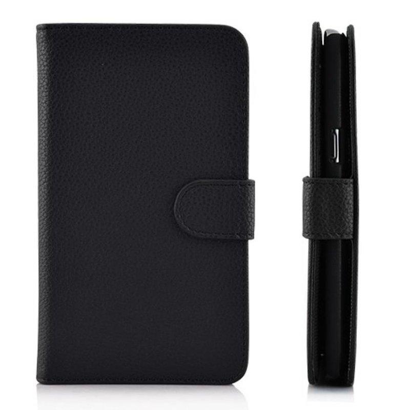 Кожаный чехол книжка для Samsung Galaxy Note 2 Черный