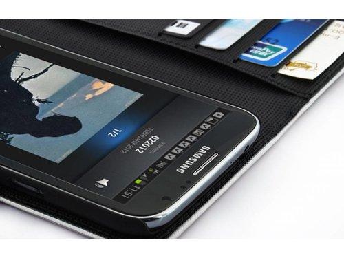 Чехол кошелек для Samsung Galaxy Note 2 Белый
