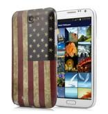 Задняя крышка флаг Америки Samsung Galaxy Note 2