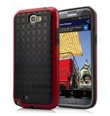 Задняя крышка Пиксели для Galaxy Note 2 Красно-черная