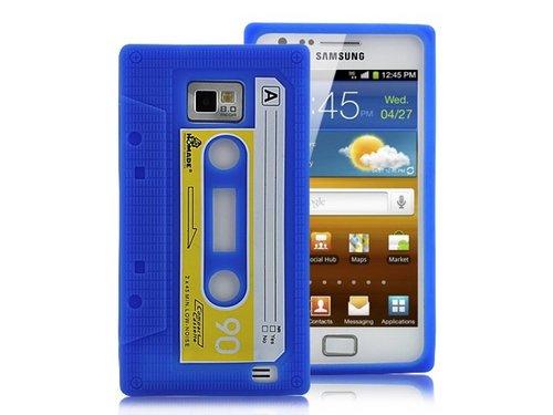 Силиконовый чехол кассета для Samsung Galaxy S2 Синий