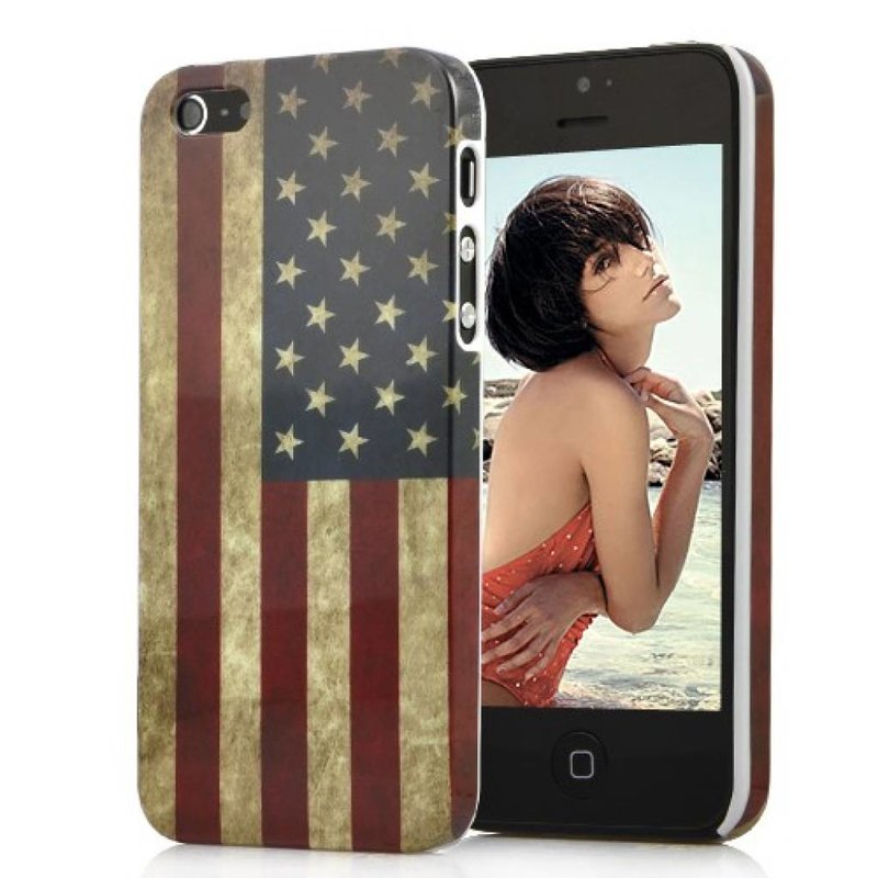 Накладка ретро флаг Америки iPhone 5/5s