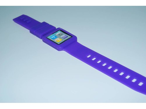 Сиреневый ремешок часы чехол для iPod Nano 6g