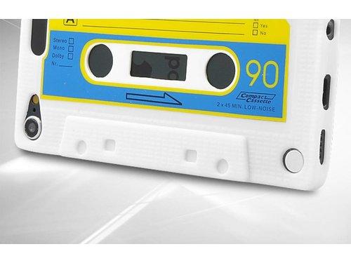 Силиконовый чехол кассета 90-е для iPod Touch 5 Белый