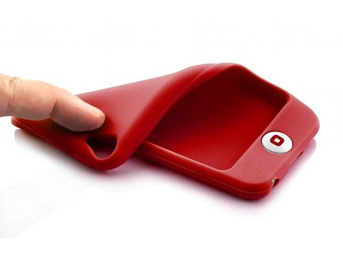 Мягкий красный чехол силиконовый для iPod Touch 5
