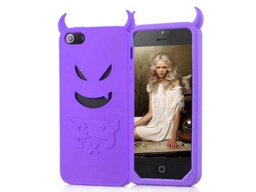 Сиреневый чехол дьявол Devil для iPhone 5 5s