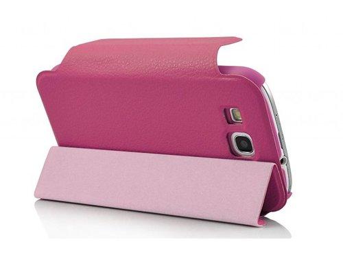 Кожаный чехол с подставкой для Samsung Galaxy S3 i9300 Розовый