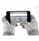 Сенсорные перчатки снежинки для iPhone, iPad, iPod, Samsung Galaxy Серые