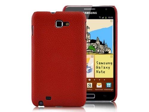 Кожаная задняя крышка Samsung Galaxy Note i9220 Бардовая