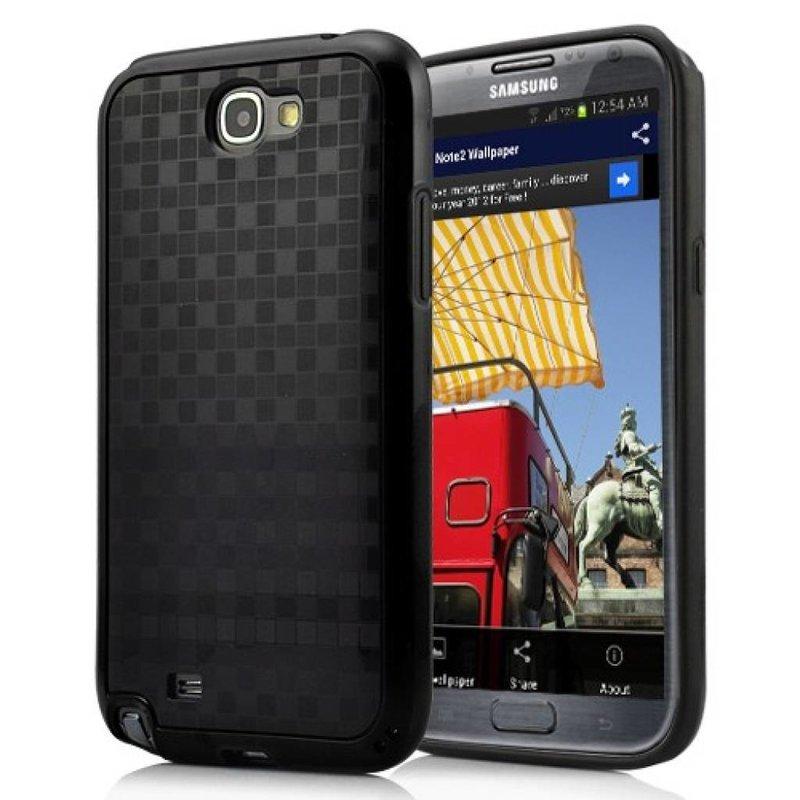 Задняя крышка Пиксели Galaxy Note 2 Черная