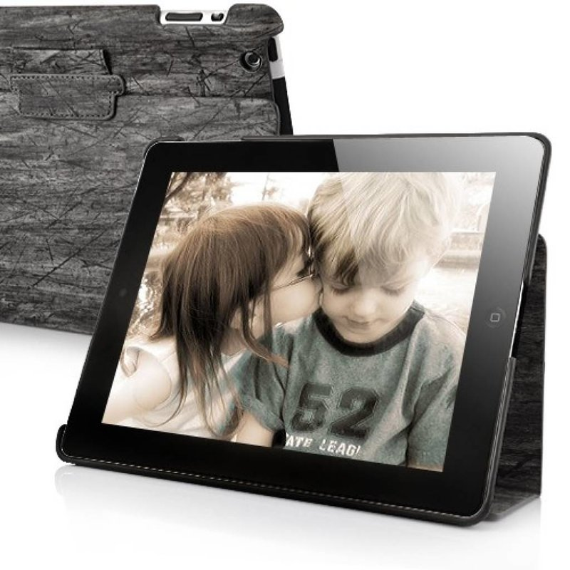 Эко деревянный чехол для iPad 2, 3, 4 Серый