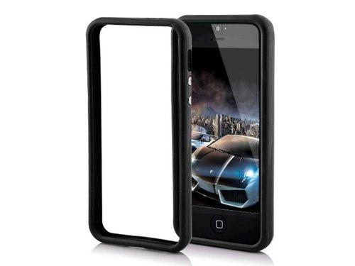 Бампер для iPhone 5 защитный чехол Черный