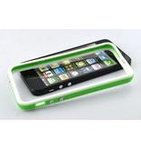 Бампер для iPhone 5 защитный чехол Зеленый