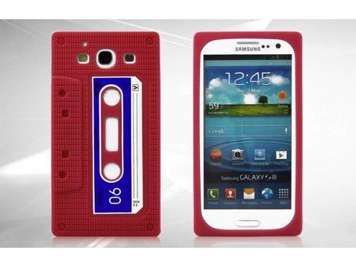 Силиконовый чехол кассета 90-х для Samsung Galaxy S 3 i9300 Красный