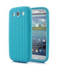 Чехол шина для Samsung Galaxy S3 Голубой