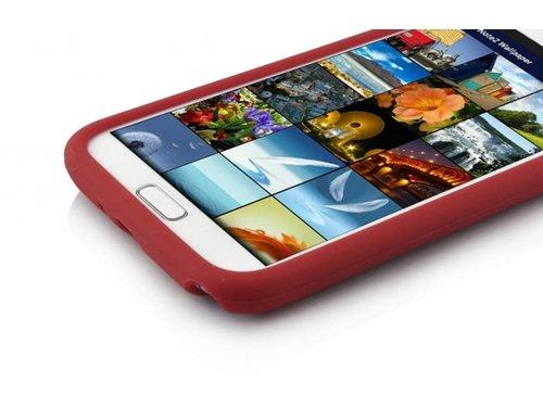 Чехол силиконовый для Samsung Galaxy Note 2 Красный