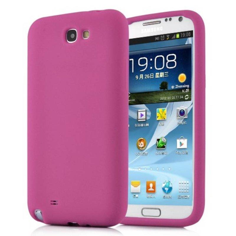 Силиконовый чехол для Galaxy Note 2 Розовый