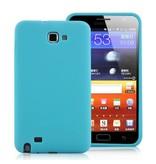 Силиконовый чехол для Samsung Galaxy Note i9220 Голубой