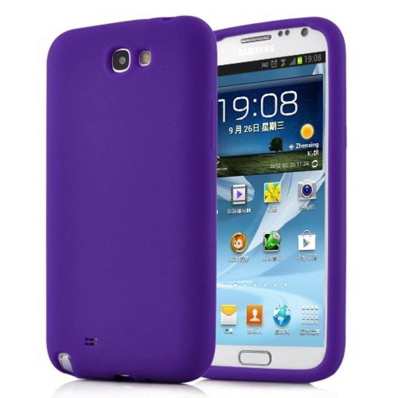 Силиконовый чехол Galaxy Note 2 Сиреневый