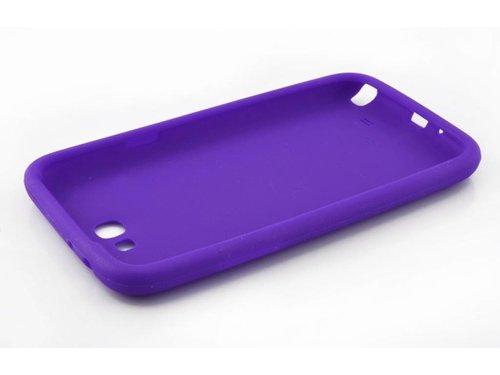 Силиконовая накладка чехол для Samsung Galaxy Note 2 N7100 Сиреневый