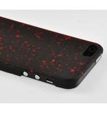 Чехол задняя накладка Космос для iPhone 5/5s Красные галактики