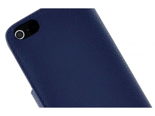 Чехол портмоне для iPhone 5/5s с застежкой Синий