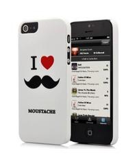 Крышка I love усы для iPhone 5/5s
