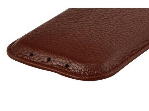 Кожаная сумочка чехол для iPhone 5 5s Коричневый