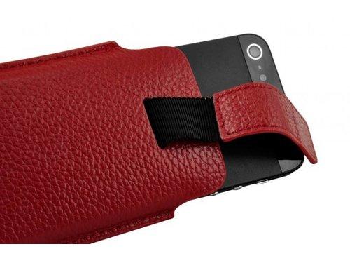 Кожаный чехол сумочка с застежкой для iPhone 5/5s Красный