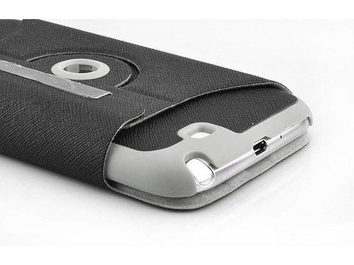 Чехол с подставкой для Samsung Galaxy Note 2 N7100 Черный