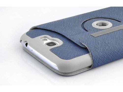 Кожаный чехол с подставкой для Galaxy Note 2 N7100 Синий