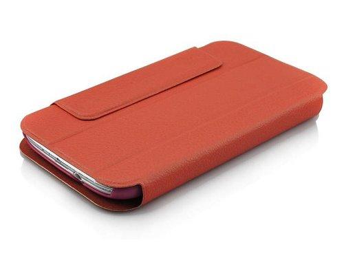 Кожаный чехол с подставкой для Samsung Galaxy S3 i9300 Оранжевый