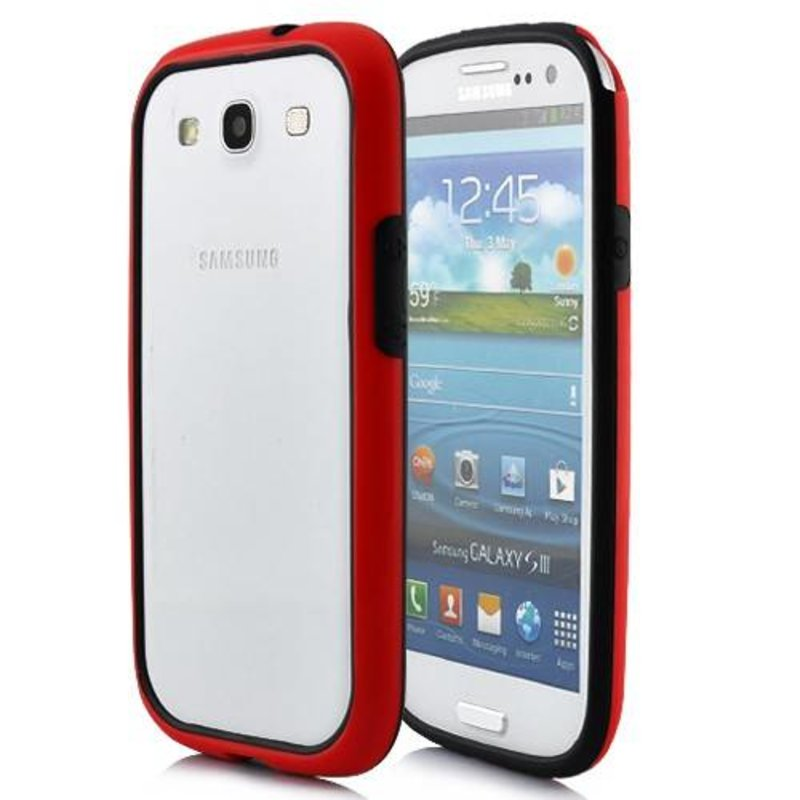 Бампер для Samsung Galaxy S3 i9300 Красный