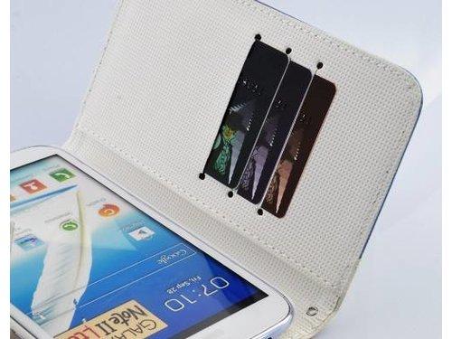 Ретро чехол портмоне для Samsung Galaxy Note 2 N7100 Синий